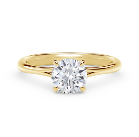Gold Forevermark Solitaire Round